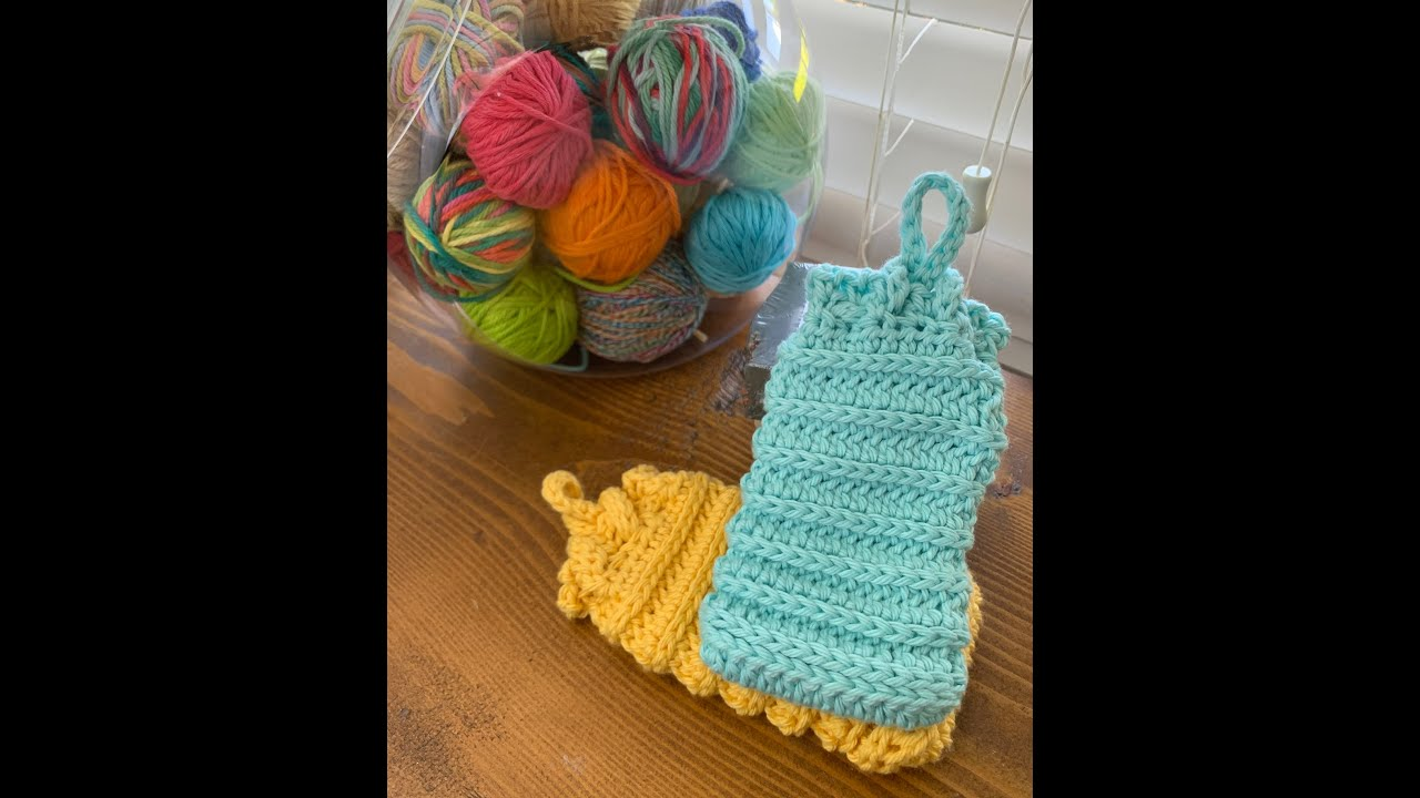 Slouchy Soap Saver Bag Crochet Pattern - YouTube