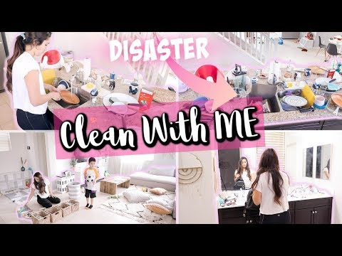 COMPLETE DISASTER CLEANING MOTIVATION    ALL DAY CLEAN WITH ME 2019