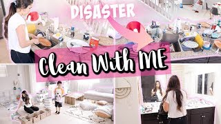 COMPLETE DISASTER CLEANING MOTIVATION || ALL DAY CLEAN WITH ME 2019