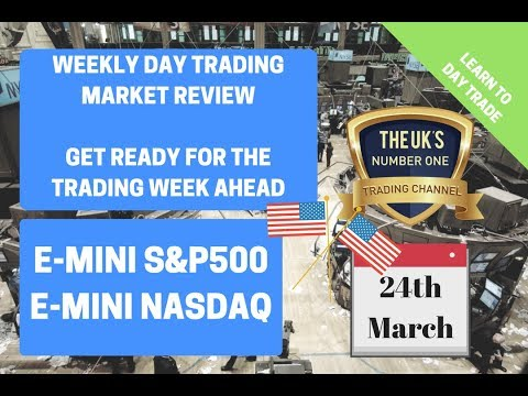 Weekly Day Trading NASDAQ and SP500 E-Mini Review 24th March
