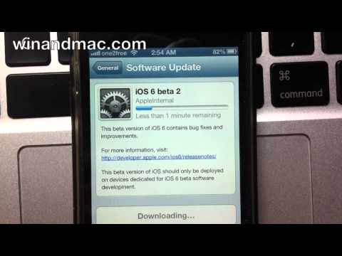 iOS 6 Software Update with spinning gears