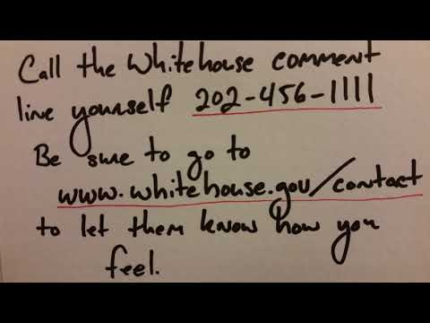 January 20th 2018 Government Shut Down Whitehouse Comment Line Message