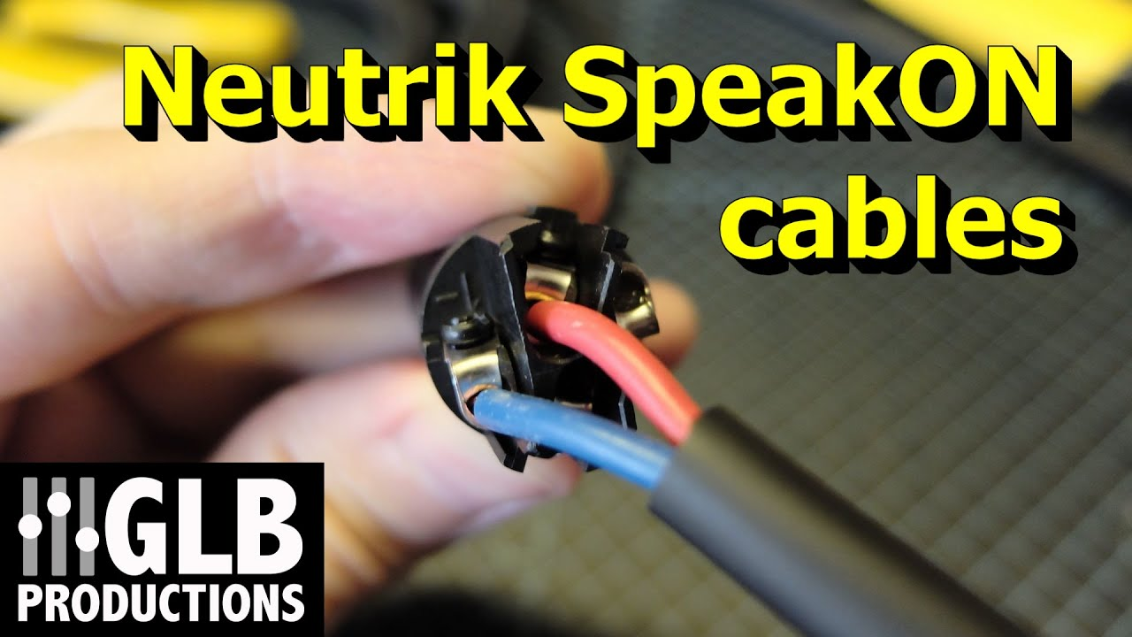 How to wire Neutrik SpeakON cables  YouTube
