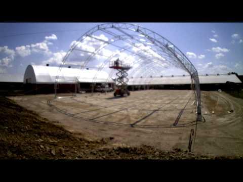 Mint Valley Farms 65' x 126' Base Rail Foundation  Time Lapse