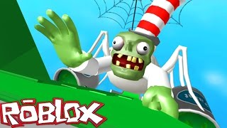 CRAZY ZOMBIE SLIDE IN ROBLOX! (Roblox Mr. Zombie's Slime Slide)
