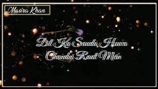 Ankh Uthi(lyrics 2)   Mananbhardwaj   Sarthak  Masira Khan