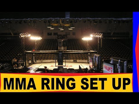MMA Cage Setup UFC - Review & How it is Setup. (VERY SIMPLE BUT EFFECTIVE!)