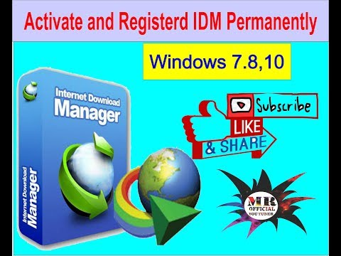 Register Idm Permanantly In Window 7-8-10|Crack IDM Permanently Full Version In Windows 7/8/8.1/10