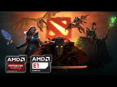 Dota 2 On Amd E1 2500 With Amd Radeon Hd 8200 In Low End Notebook Youtube