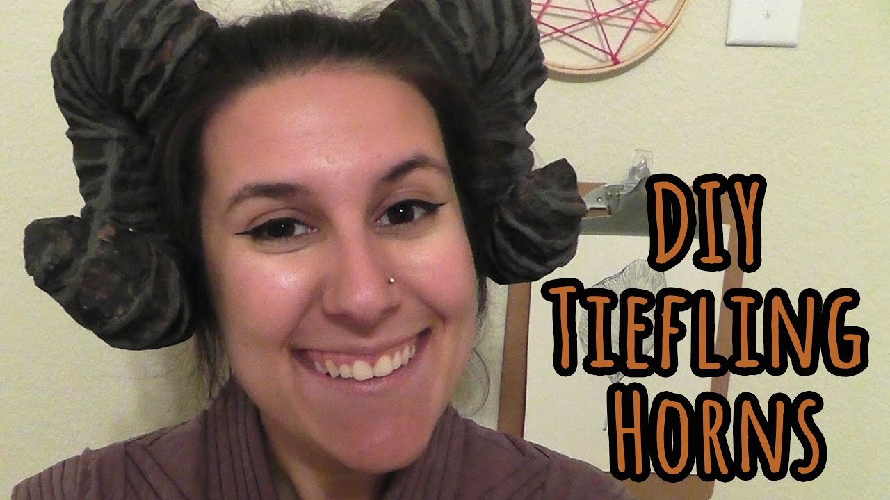 How To Make Cheap And Easy Tiefling Horns Youtube