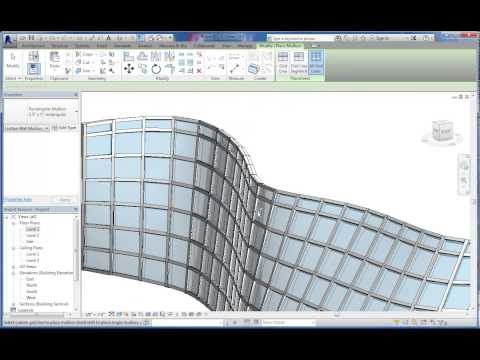 Intro to Massing and Curved Curtain Wall Systems in Autodesk Revit 2014