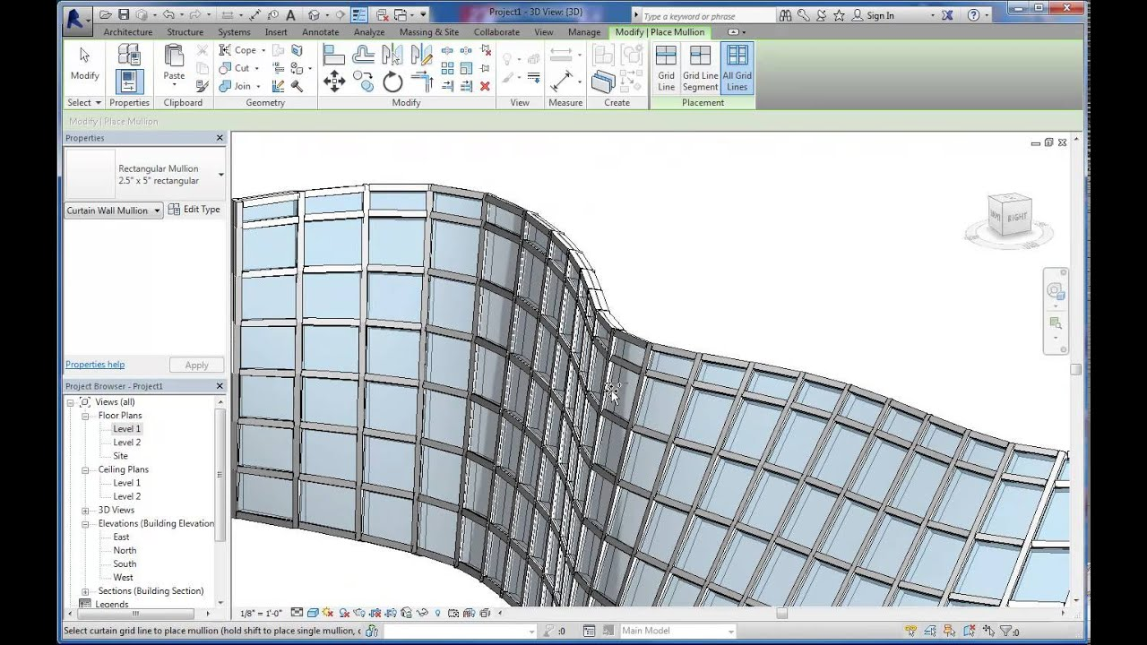 Intro To Massing And Curved Curtain Wall Systems In Autodesk Revit