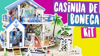 DIY: Mini CASA DE BONECA (usando KIT)! Doll House kit Legend of the blue sea! Por Isabelle Verona