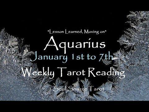 ~Aquarius~January 1st to 7th, 2018~Transformation~Weekly Tarot Reading