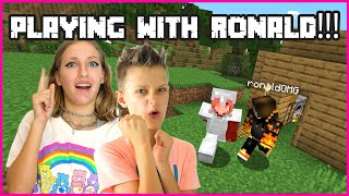 PLAYING MINECRAFT WITH RONALDOMG