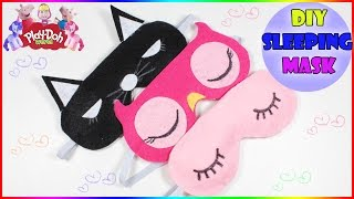 DIY Sleeping Mask | How To Make Cute Cat Owl Sleeping Mask | Felt mask