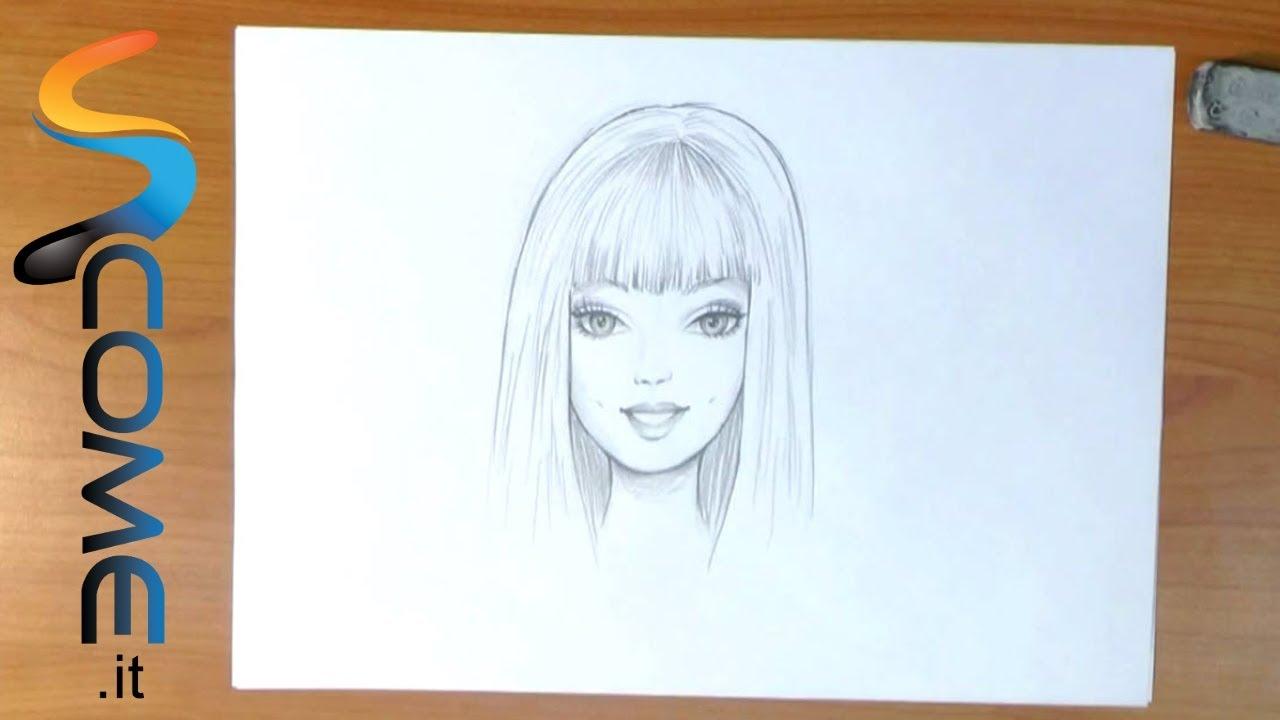 Disegni Di Ballerine Da Disegnare : Disegna il volto di barbie youtube