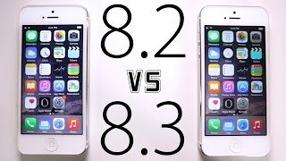 iOS 8.2 VS iOS 8.3 - Performance & WiFi Speed Test Comparison