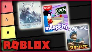 MEINE ROBLOX GAMES TIER LISTE...