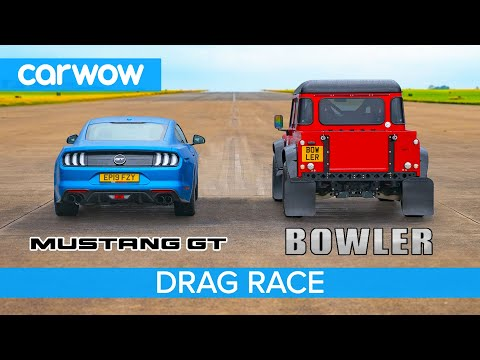 Ford Mustang Vs Bowler Bulldog 5.0-litre V8 Drag Race, Rolling Race & Brake Test