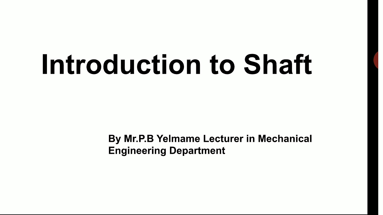 Introduction to Shaft - YouTube