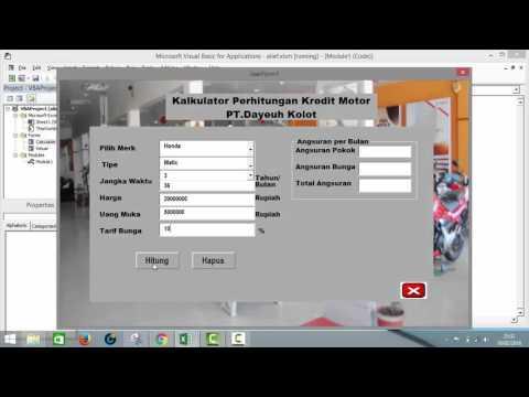 Tugas Aplikasi Niaga - Kalkulator Kredit Motor