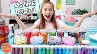 Setting up a Slime Shop Booth to Sell Slime In Real Life | How to Make a Slime Shop Episode Four