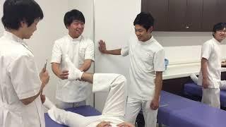 京都医健 柔道整復科 2年実技授業