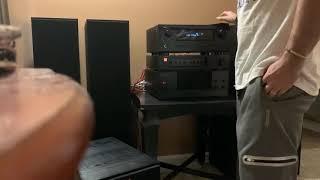 Klipsch R-820f sound test with Yamaha m-45