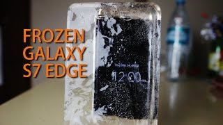 Samsung Galaxy S7 Edge Liquid Test - Frozen, Swim