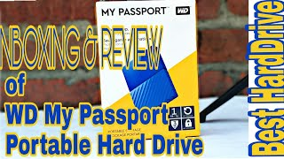 Unboxing and Review of WD My Passport Portable External Hard Drive | Best and Cheap