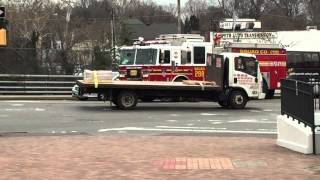 FDNY SQUAD 288 & FDNY RAC 4 CRUISING TOGETHER ON 69TH ST. IN MASPETH, QUEENS, NEW YORK CITY.