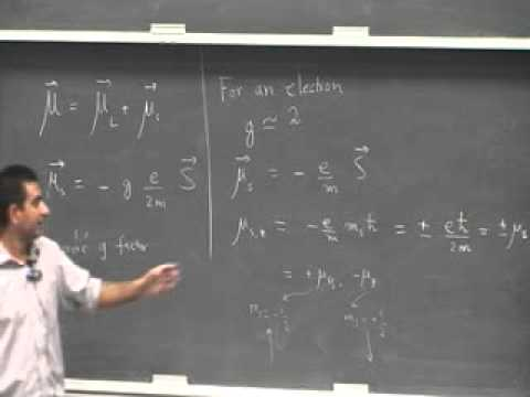 Modern Physics Lecture 25, Applications of the spin phenomena