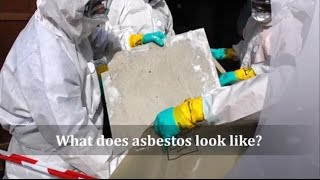 What does asbestos look like?