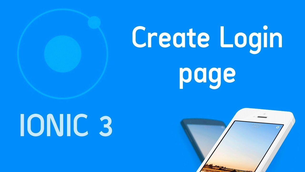 Ionic 3 Tutorial #3 Create login page