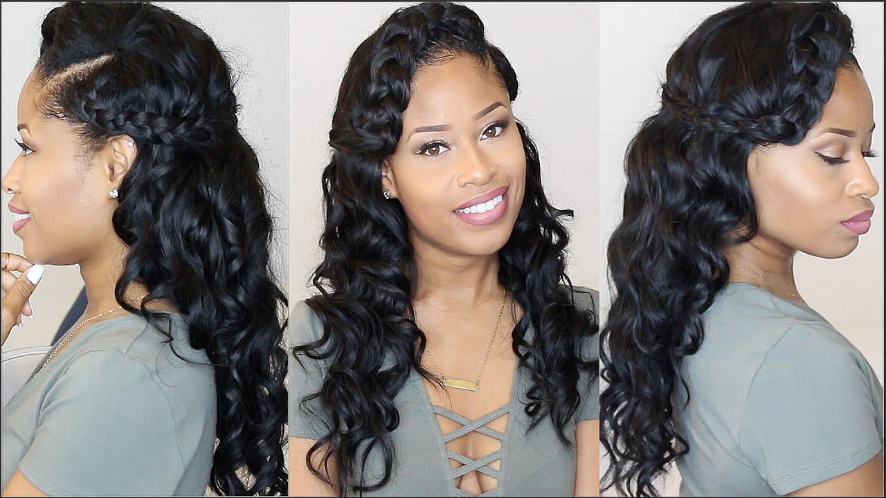 Wrap Braids Soft Waves Formal Hairstyle Tutorial Youtube