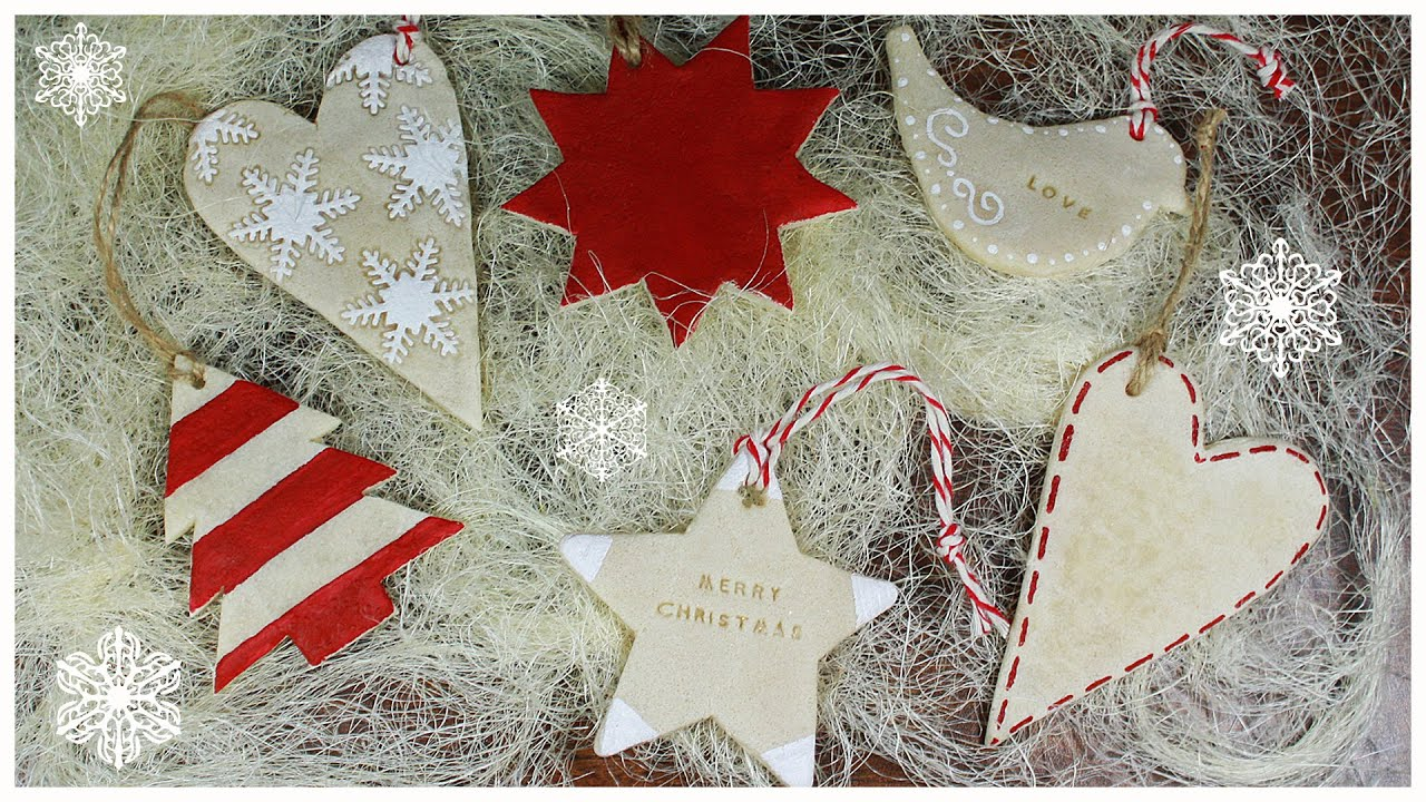 salt dough recipe  Christmas Cookie Ornaments TUTORIAL no