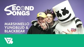 Marshmello Watches YUNGBLUD and blackbear Touch Tongues