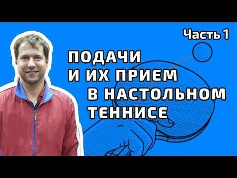 Подачи и их прием в настольном теннисе. Игорь Рубцов. Полная версия. Часть 1.