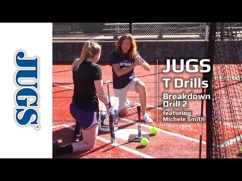 Softball T Drills: Breakdown Drill 2   JUGS Sports