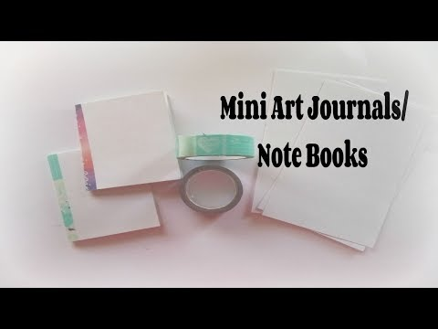 Mini Art Journal tutorial/ how to make a  journal