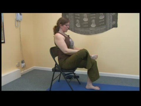 Chair Yoga : Chair Yoga: Seated Pigeon Exercise