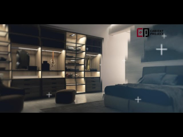 Proyecto de gabinete Armario abierto con estantes y estantes abiertos para armario