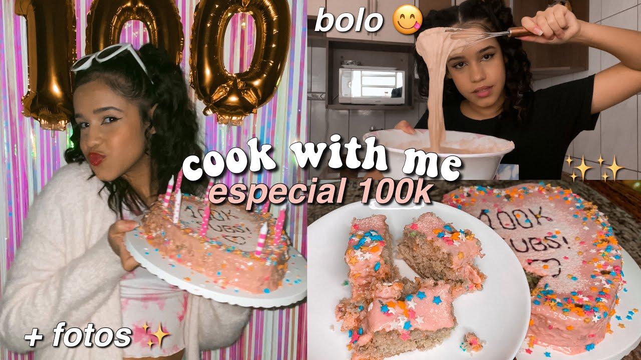 cook with me *especial 100k* ✨ bolo pinterest aesthetic + fotos estilo analógica 📽