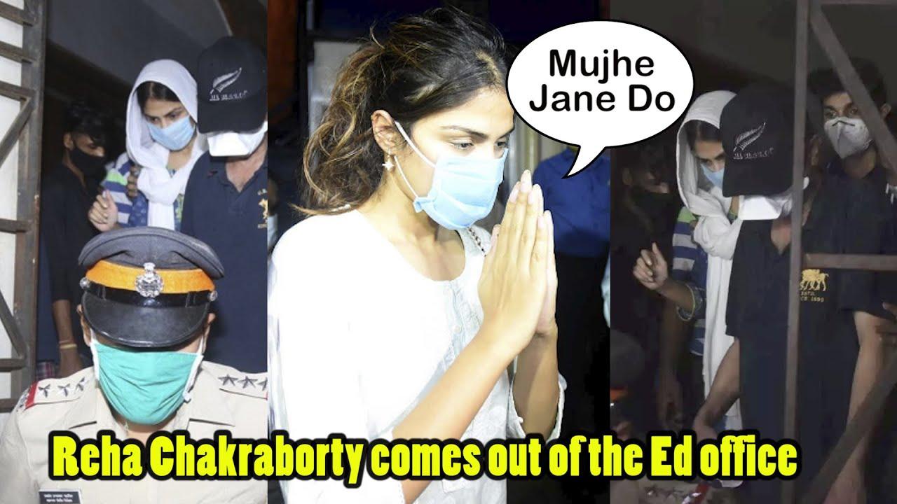Rhea Chakraborty से Media ने  पूछे तीखे सवाल As She Leaves ENFORCEMENT DIRECTORATE With Brother Show