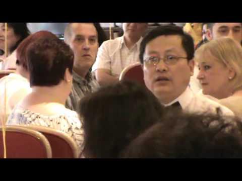 2016英国曼城国际中医大会 贺辞 曼彻斯特市长 Carl Austin Behan (解余宏 拍摄上传 Dr Yuhong Xie)