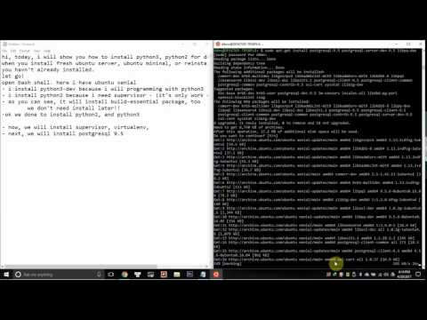 2. setup ubuntu on Windows 10 to program with django