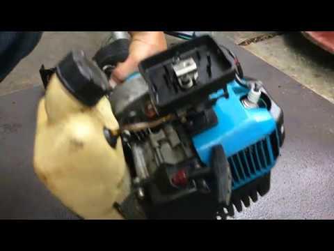 Видео как работает мотокоса мк 1