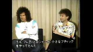 YouTube動画:Brian May and John Deacon (QUEEN) Interview in Japan
