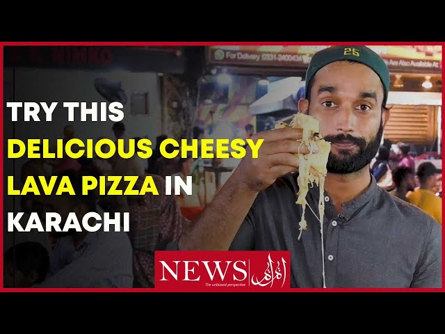 Try This Delicious Cheesy Lava Pizza In Karachi